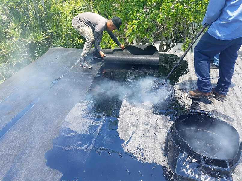 roof replacement flat roof florida roofing