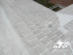 sealing cement tile roof
