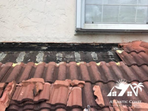 leaking tile roof