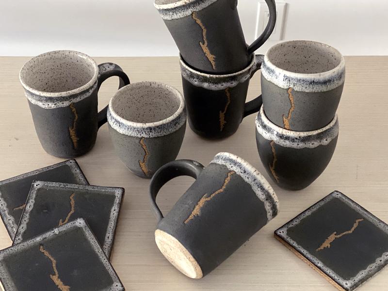 Lake George Pottery Mugs for sale