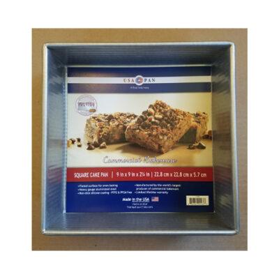"""USA Pan Square Cake Pan 9"""" x 9"""" x 2.25"""" <br>PRICE: $15.99 <br>UPC: 400000002309"""