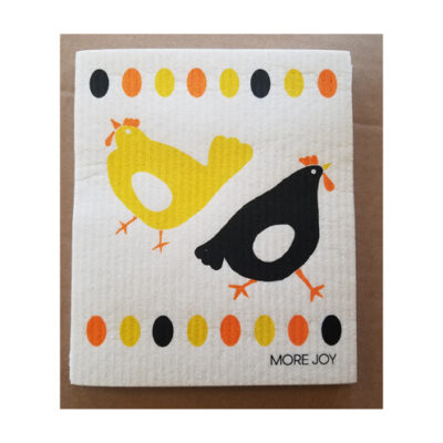 Sweetgum Compostable Cloth - Chickens & Eggs <br>PRICE: $7.00 <br>SKU: 400000002125