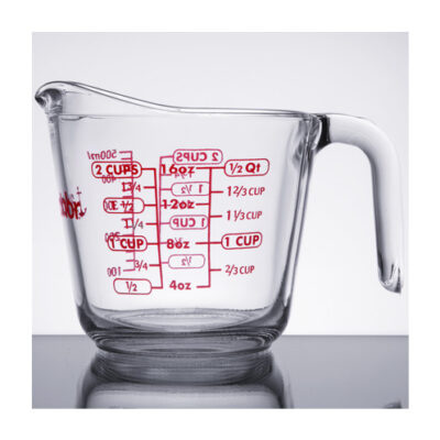 16 Ounce Anchor Hocking Tempered Glass Measuring Cup <br>PRICE: $7.99 <br>SKU: 400000000190