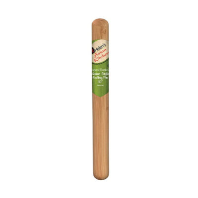 Asian Style Rolling Pin 10in Bamboo <br>PRICE: $6.25 <br>SKU: 400000000978