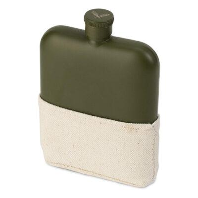 Foster & Rye Matte Army Green Flask <br>PRICE: $32.99 <br>SKU: 400000007311
