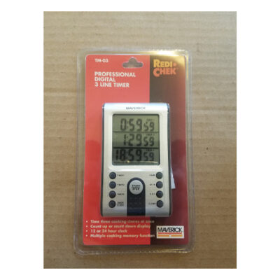 Maverick Professional Digital 3 Line Timer <br>PRICE: $19.99 <br>SKU: 400000002781