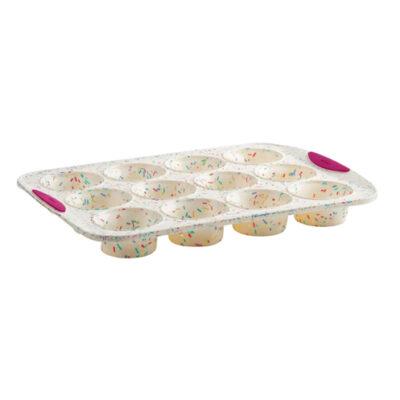 Trudeau Structure Silicone 12 Cup Muffin Pan Confetti <br>PRICE: $19.99 <br>UPC: 400000005522