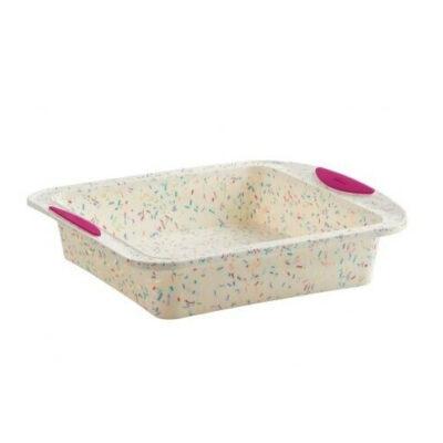 Trudeau Structure Silicone Square Cake Pan Confetti <br>PRICE: $19.99 <br>UPC: 400000005560