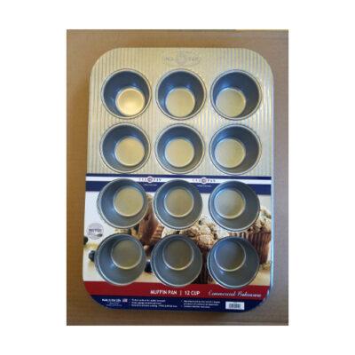 USA Pan 12 Cup Muffin Pan <br>PRICE: $24.99 <br>UPC: 400000002330