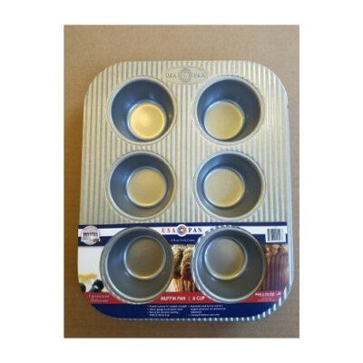 USA Pan 6 Cup Muffin Pan <br>PRICE: $18.99 <br>UPC: 400000002378