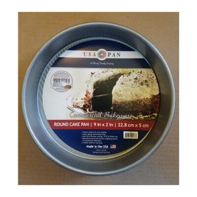 """USA Pan Round Cake Pan 9"""" x 2"""" <br>PRICE: $14.99 <br>UPC: 400000002385"""