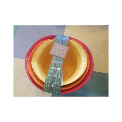 Eco-Smart Purelast Set of 3 Mixing Bowls <br>PRICE: $24.99 <br>SKU: 400000002651
