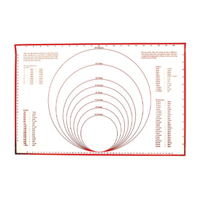 Foxrun Silicone Pastry Mat with Measurements <br>PRICE: $18.99 <br>SKU: 400000007175