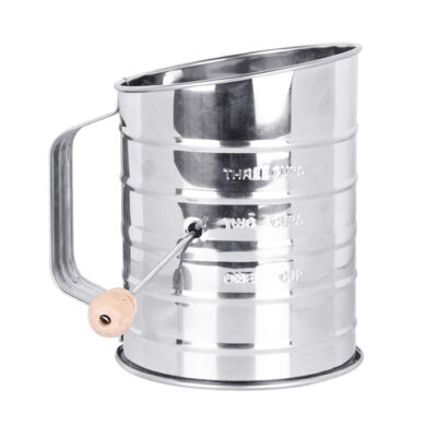 Mrs Anderson's 3 Cup Stainless Steel Crank Flour Sifter <br>PRICE: $9.99 <br>SKU: 400000004891