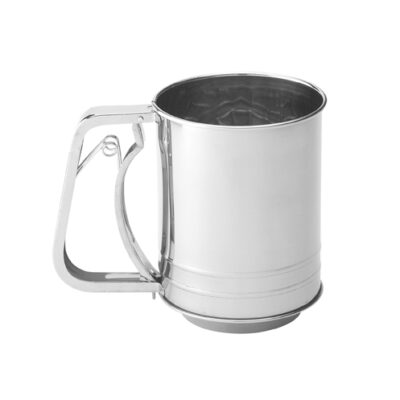 Mrs Anderson's 3 Cup Stainless Steel Squeeze Flour Sifter <br>PRICE: $11.99 <br>SKU: 400000007465