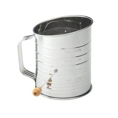 Mrs Anderson's 5 Cup Stainless Steel Crank Flour Sifter <br>PRICE: $12.99 <br>SKU: 400000007458