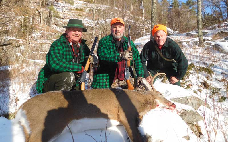 2019: The Ladd Boys - Dan, Bill & Tim - of the Iron Sight Gang with Bill's 123-pound, 6-pointer taken Nov. 16 in Hogtown, Washington County.