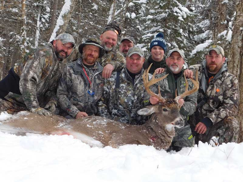 2019: Jeffery Smith of Warrensburg and the Shattered Dreams Crew with a 10-pointer taken Dec. 7 in Newcomb, Essex County.