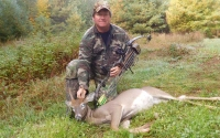 2019: ADKHunter.com publisher Dan Ladd with an opening day velvet spike taken in Fort Ann, NY.