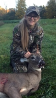 2019: Sydney Glebus of Moriah shot her very first buck October 12 in Crown Point. This fine 3-pointer weighed 100 pounds. Congrats Syndey!