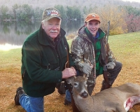 2019: Mike Currie of Warrensburgh (and grandson, Paul), with a 109-pond, 4-pointer taken in Hogtown with the Iron Sight Gang.