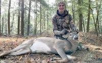 2019: Keegan Stafford of Charlton, NY with a Warren County 6-pointer taken Nov. 10 in Chestertown.