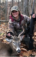 2019: Kileigh Bouyea, age 17, with  first buck (a 6-pointer) taken Nov. 9 in Queensbury.