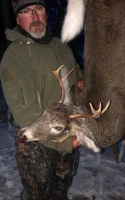 2019: Scott Weightman with a buck aken at the Black Horse sporting Club in Peru, Clinton County.