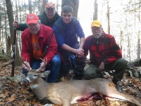 2019: The Currie Crew portion of the Iron Sight Gang, with Jack's 7-pointer taken in Warren County.