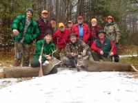 2019: The Iron Sight Gang with a pair of bucks taken in Warren County.