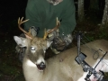 2020: Camren Beckwith, age 16 , of Essex County with his first bow buck, a 138-pound, 8-pointer. Nice job, Camren!