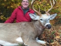 """Carlos """"Ubu"""" Dubuque shot this 250-pound (dressed) 10-pointer on the opening day of early muzzleloading season out of Camp Squaw in Hamilton County"""