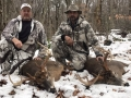 2017: Steve Grabowski and Joe DiNitto of the Adirondack Trackers, with their 2017 buck. (http://adktrackers.com)