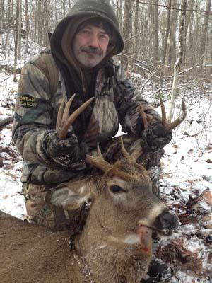 Ron Gates shot this buck 1600-pound,  8 pointer on Nov. 12 in Minerva.