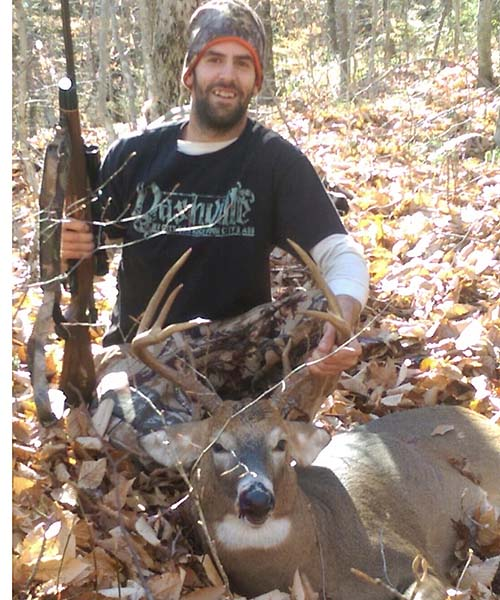 Mark Burroughs shot this 8-pionter while hunting out of the Rut-n-Buck backwoods tent camp in Hamilton County