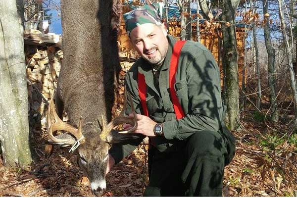 Justin Hooper of Lewis with a 148-pound, 10-pointer taken Nov. 20 in Clare, St. Lawrence County