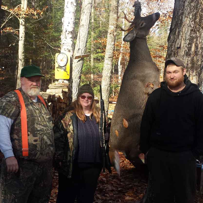 Patty Denton from Hadley with a 5-pionter taken at the Bird Brook Hunting Club on Nov. 6, 2016