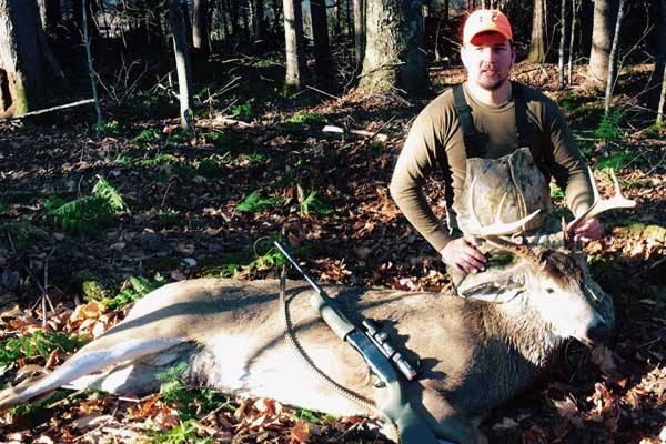 Jordan Vance of Gansevoort with a 226-pound, 8-pointer taken Nov. 18 in Lake Pleasant, Hamilton County
