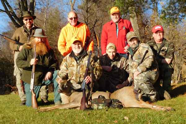2016: Rick Goodman of Queensbury with a 3 1/2-pointer taken Nov. 12 in Hogtown, Washington County with the Iron Sight Gang