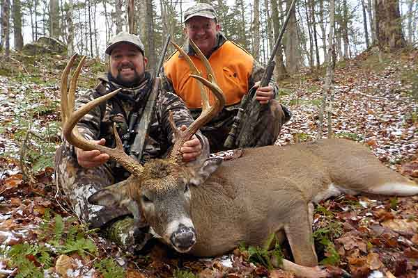 2017: Father and son, Jeff and Zach Chapman of Gansevoort with Zach's 178-pound, 9-pointer taken Nov. 18 in Indian Lake, Hamilton County with the Lonesome Pine Gang.