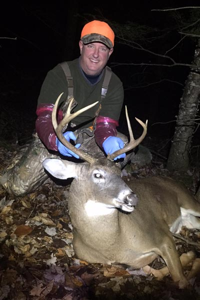 2017: Richard Lee of Cadyville, NY with a 150-pound, 6-pointer taken Nov. 8 in Dreseden, Washington County.