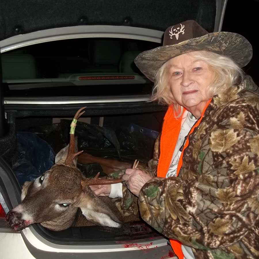 2018: Jean Hagadorn, age 85 of Queensbury, tagged this 6-pointer on Nov. 11 in Stony Creek, Warren County.