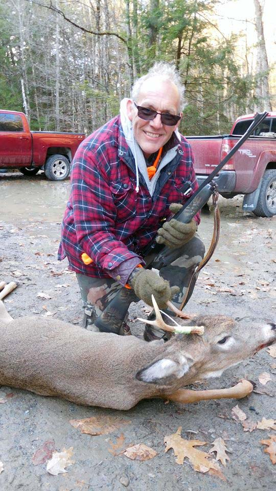 2018: Phil Parker with his first buck since the 1970s, a 3-pointer taken Nov. 11 in Hogtown,  Washington County with the Iron Sight Gang.
