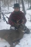 2018: Jack Gandolfini of Pine Bush, NY, age 14, with his 1st Adirondack buck: a 117-pound, 4-pointer taken Nov. 10 at Owl's Nest Hunting Camp in Hamilton County.