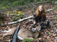 2018: John Czajkowski with his first buck, a 98-pound spike taken Oct. 6 during the youth season in Hogtown, NY.