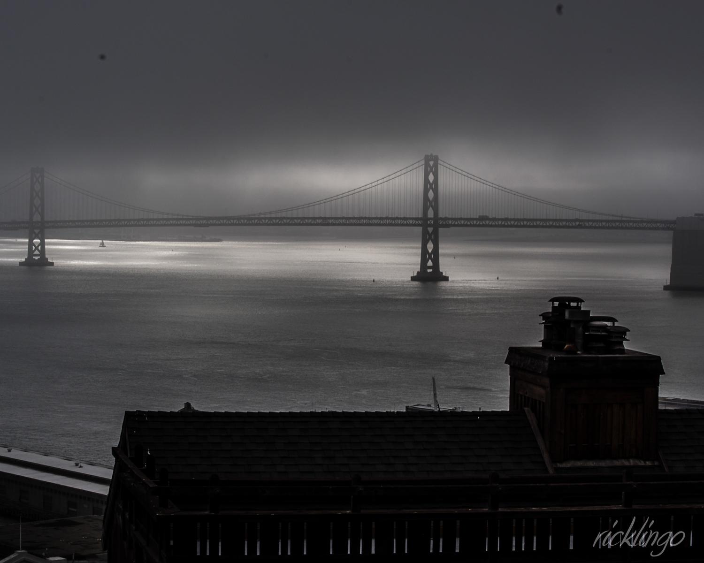 Bay Bridge in Fog
