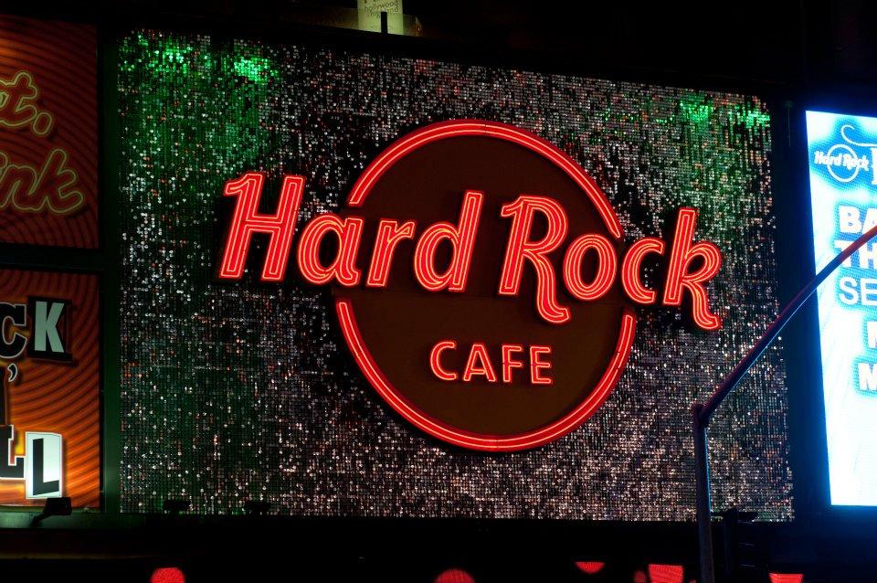 Hard Rock Cafe Los Angeles SolaRay Sign 4