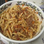 Penne with Quick Bolognese Sauce & Dinner Salad