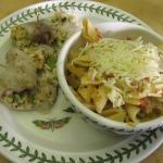 Crab-filled Black Cod and Garden Pasta