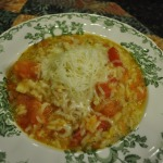 Tomato Rice Soup with Savory Cheese and Chive Bread ~French Fridays with Dorie Recipe~